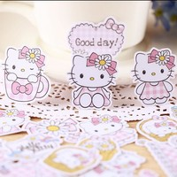 32pcs Creative kawaii self-made love hello kitty girl stickers beautiful stickers /decorative sticker /DIY craft photo albums