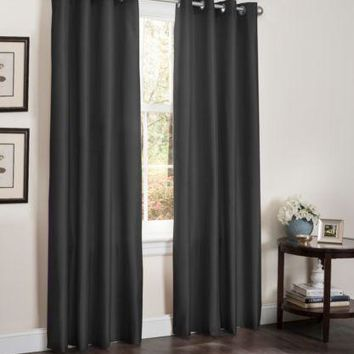 2 Pc Foam Back Window Curtains, Energy Efficient Blackout Panel, 54x90