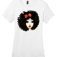 Global Couture —  Curly Ashley  T shirt, Totes, phone cases, & coffee mugs (Two colors!)