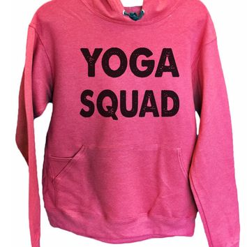UNISEX HOODIE - Yoga Squad - FUNNY MENS AND WOMENS HOODED SWEATSHIRTS - 2185