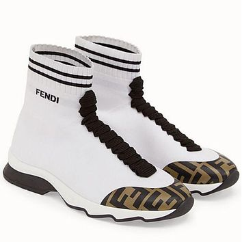 FENDI men and women Socks boots white