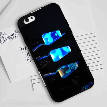 Lava Lamp (blues) iPhone Case
