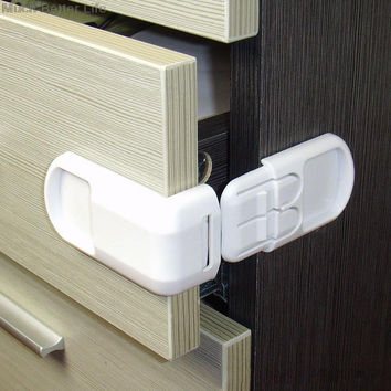 Kids Safety Protection Drawer Cabinet Door Right Angle Corner Lock 4 Pieces
