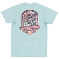 Genuine Collection - Deer Hunting Tee in Washed Moss Blue by Southern Marsh