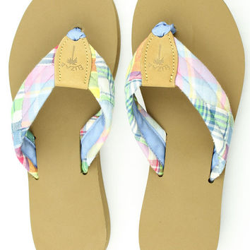 Fabric Sandal in Madras by Eliza B.