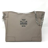 Tory Burch Britten Small Slouchy Tote In French Grey Style 390570817