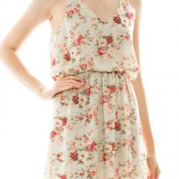 Country Fair Floral Print Dress in Mint | Sincerely Sweet Boutique