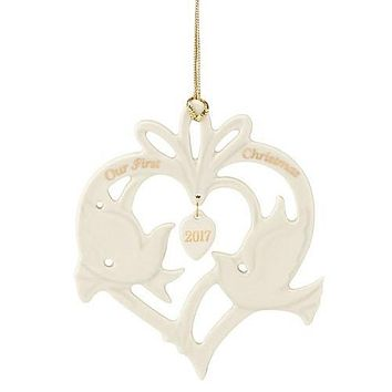 Lenox 2017 Annual Our First Christmas Together Doves Ornament
