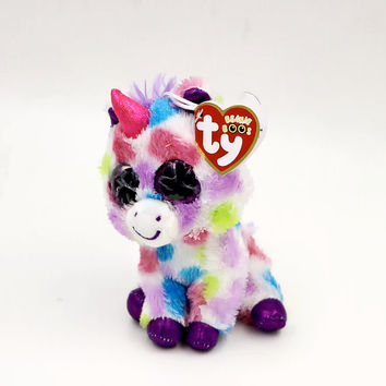 6'' Cute Colorful Unicorn Stuffed TY Animals Beanie Boos Big Sparkly Eyes Babies Plush Soft Toys for Children or Collection L17
