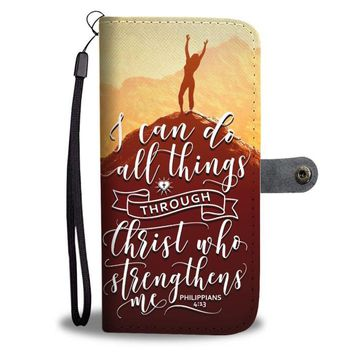 I Can Do All Things (Mountain Top) - Christian  Wallet Phone Case