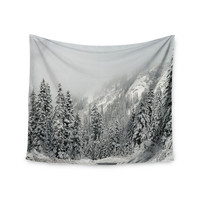"Robin Dickinson ""Winter Wonderland"" White Gray Wall Tapestry"