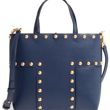 Tory Burch Block-T Mini Studded Leather Tote | Nordstrom
