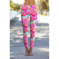 Sweet Illusion Lucy Floral Print Performance Legging
