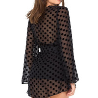 Dotted Stone robe