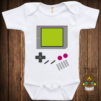 Funny Baby Infant Child Romper Bodysuit Game Boy Costume Classically Trained Gamer Video Game Retro Old School College Humor Cool Geek Nerd