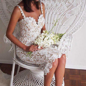 lace Hollow out Crochet Dress