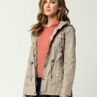 SKY AND SPARROW Twill Womens Anorak Jacket