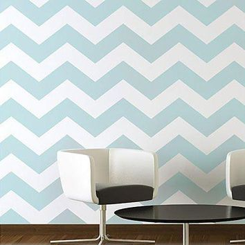 Chevron Allover Stencil   Large Scale   Reusable Stencil Patterns For Walls Just Like Wallpaper   Diy Decor