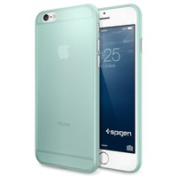 iPhone 6 Case, Spigen® [AirSkin] Ultra-Thin [Mint] Premium Super Lightweight / Exact Fit / Absolutely NO Bulkiness Hard Case for iPhone 6 (2014) - Mint (SGP11080)