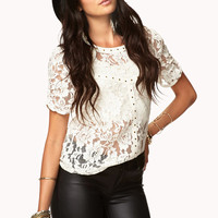 Sweet Stud Lace Top