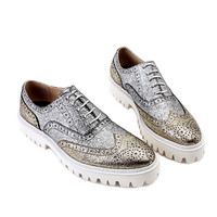 Metallic Contrast Derby Shoes