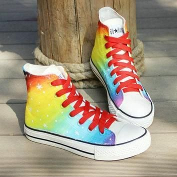 galaxy converse shoes custom converse galaxy converse sneakers hand painted on convers
