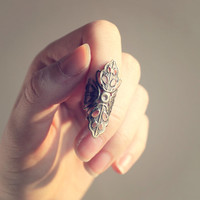 Retro Vintage Lace Nail Ring - Free Shipping - Made to order :)