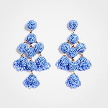 Large Seed Bead Statement Earrings | Ann Taylor