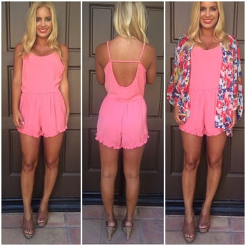 A Love To Remember Romper - PINK