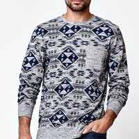 On The Byas Greene Tribal Print Long Sleeve Shirt - Mens Shirt - Gray