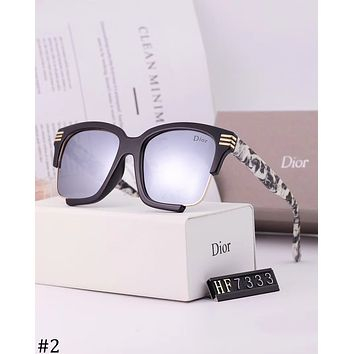 DIOR 2018 new wild trend men and women color film polarized sunglasses #2