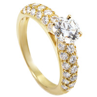 Van Cleef & Arpels Diamond Gold Engagement Ring