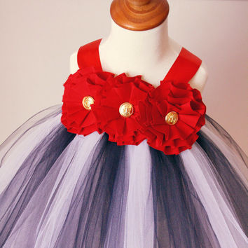 Nautical Dress, Nautical Wedding, Flower Girl Dress, Nautical Tutu, Nautical Baby, Navy Dress, Beach Wedding, Outfit of Choice, Welcome Home