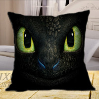 How To Train Your Dragon Toothless  on Square Pillow Cover
