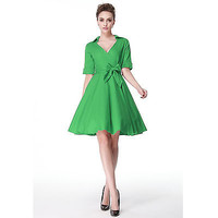 Women's 50s 60s Style Sexy Fitting Vintage Retro Swing Dresses XS Rockabilly