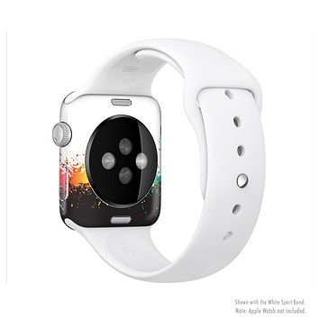 The Rainbow Paint Spatter Full-Body Skin Kit for the Apple Watch