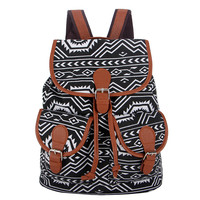 Bohemian Retro Printing Canvas Backpack