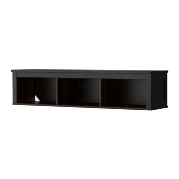 HEMNES Wall/bridging shelf - black-brown  - IKEA