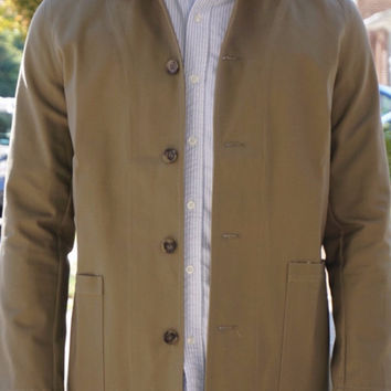 Glenwood -  Dark Khaki Heavyweight Ripstop Jacket