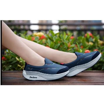 Slimming swing shoes cutout lounged casual wedges platform women sponge cake shoes stovepipe casual weave Shook shoes#GS15