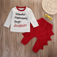3D Dinosaur New baby pants cotton o neck garment of a new baby boy set gentleman modelling baby romper suit long sleeved clothes-in Clothing Sets from Mother & Kids on Aliexpress.com | Alibaba Group