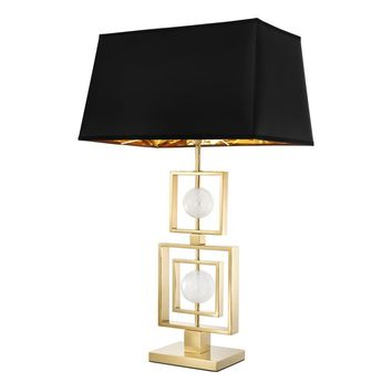 Black & Gold Table Lamp | Eichholtz Avola