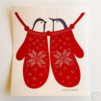Swedish Dishcloth Birds and Mittens