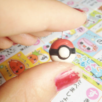 Pokemon Pokeball Charm by KeaiCreations on Etsy