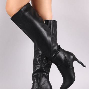 Anne Michelle Pointy Toe Stiletto Knee High Boots