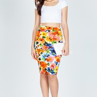 Bold Bouquet Pencil Skirt