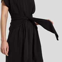 Farrow / Canell Tie Dress in Black