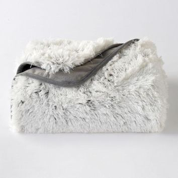 DCCKX8J LC Lauren Conrad Faux Mongolian Fur Throw