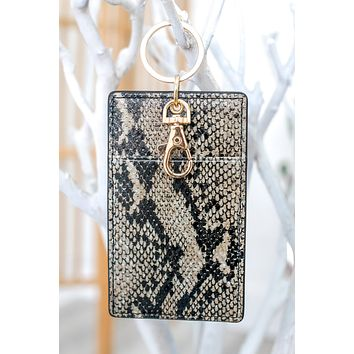 Get Going Pocket Key Chain - Snakeskin