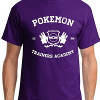 Pokemon Trainers Academy - Established 1996 - Pokemon Shirt - Choice of Colors - Sizes 2T - Adult 5XL (including Ladies) Pikachu Squirtle